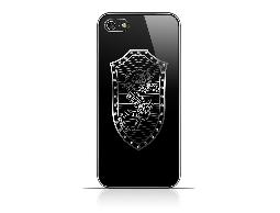 RedANGEL  iPhone5/5S 亞克力板塑殼鑲鑽(龍、鳳)盾形圖案