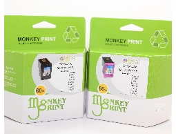 ★Monkey Print★ HP No.60XL黑+HP No.60彩環保相容墨水匣