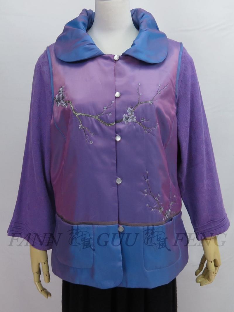 鍛絲棉布料因本身的色澤變化,具時尚感