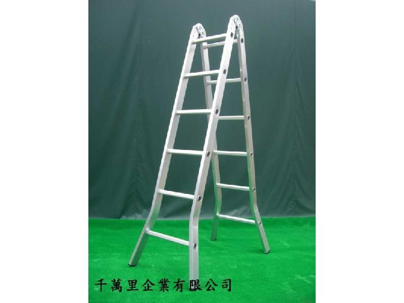 折合鋁梯(二關節)、折梯、關節梯、直馬梯--鋁梯