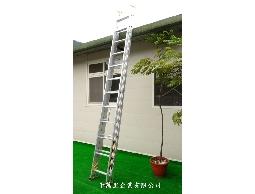 伸縮梯(二節式)、拉梯、伸縮鋁梯、鋁拉梯、消防梯--鋁梯