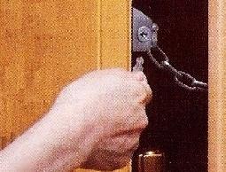 [日本進口]門鏈鎖房門鎖防盜鎖安全鎖*居家外出都適用