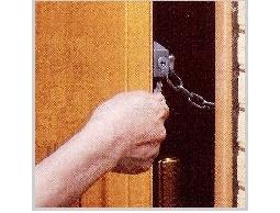[日本進口]門鏈鎖房門鎖安全鎖具防盜鎖防盜器*居家外出都適用