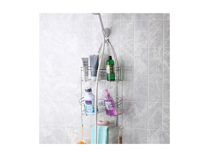 尋寶新天地*B9白鐵不銹鋼不鏽鋼衛浴用品浴室用品蓮蓬頭吊掛架*沐浴用品收納架.置物架