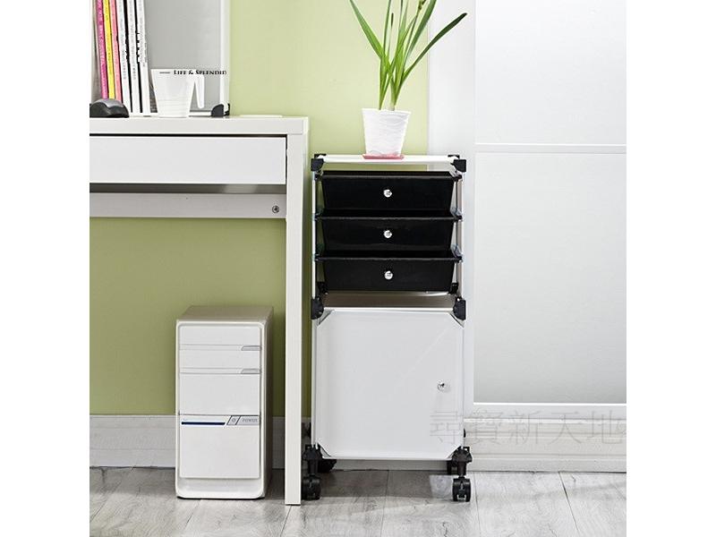 A21彩色方塊3抽1門.書報架公文架置物箱整理箱活動櫃.居家辦公室