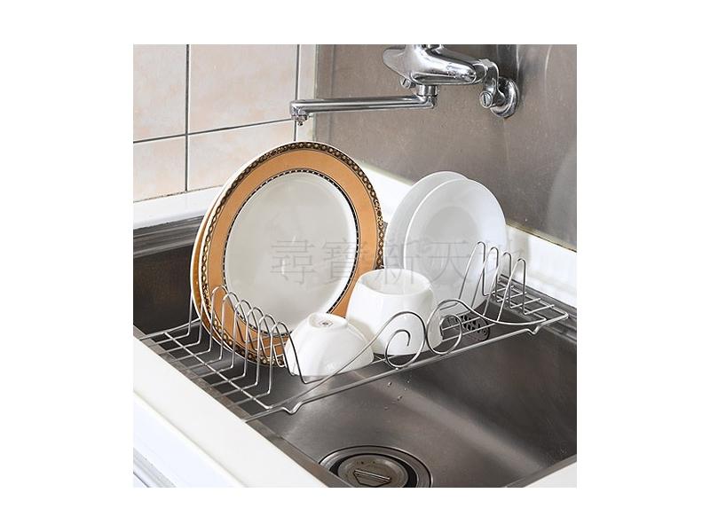 B6白鐵不銹鋼不鏽鋼廚房用品水槽專用二用型水槽收納籃置物架瀝水架