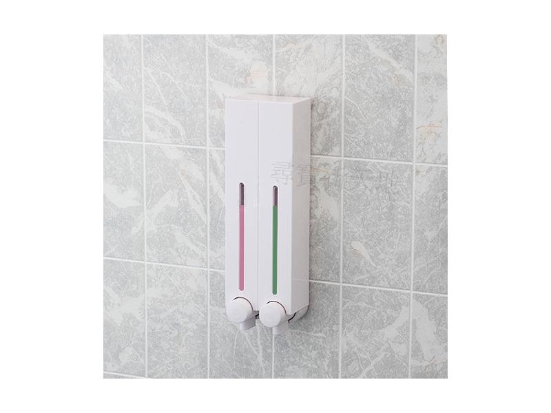 C7幸福經典白雙孔給皂機*衛浴用品浴室用品.洗髮精.沐浴乳洗手乳洗面乳.