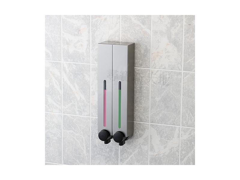 C3幸福典藏霧銀雙孔給皂機-衛浴用品浴室用品.洗髮精.潤髮乳沐浴乳洗手乳.洗面乳.