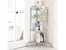 尋寶新天地*B39*不鏽鋼浴室用品角落四層沐浴乳瓶罐架.收納架.置物架.洗面乳或洗碗精均可