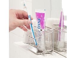 尋寶新天地*B28白鐵不銹鋼不鏽鋼浴室用品吸盤式牙刷牙膏架水杯架*整齊收納個人衛生用品