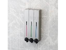 尋寶新天地*C4手感典藏霧銀三孔給皂機-衛浴用品浴室用品.洗髮精.潤髮乳沐浴乳洗手乳用