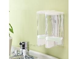 尋寶新天地*C16手感透明白雙孔給皂機*衛浴用品浴室用品.洗髮精.潤髮乳沐浴乳洗手乳用