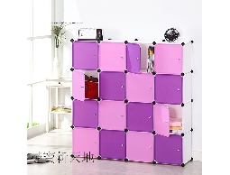 A52舞雙紫-16格附門*更衣間衣物架衣物箱.衣物櫃收納架置物架.置物箱收藏箱鞋架