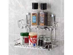 B2不鏽鋼廚房用品二層收納架便利架置物架*調味罐.胡椒鹽.鹽巴
