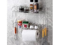 B3不鏽鋼居家廚房用品二層收納架便利架置物架*紙巾.調味罐飲料