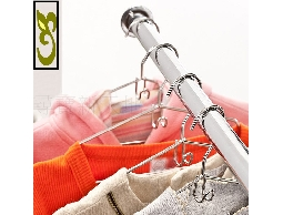 B31*白鐵不銹鋼不鏽鋼居家連掛式兒童衣架收納架曬衣架_10入裝