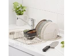 B34白鐵不銹鋼不鏽鋼居家廚房用品.伸縮型水槽碗盤架蔬果架置物架