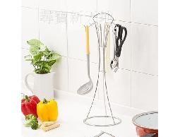 尋寶新天地*B36一次收納真方便*不鏽鋼廚房桌上型料理工具吊掛架