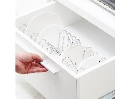 尋寶新天地*B23可依櫥櫃空間調整*不鏽鋼伸縮碗盤鍋蓋架