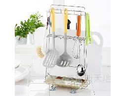 B17白鐵不銹鋼不鏽鋼料理砧板架工具架*附瀝水盤~廚房用品.取用更方便