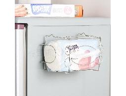 B18白鐵不銹鋼不鏽鋼廚房用品衛浴用品~吸盤式面紙架衛生紙抽取架