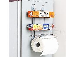 尋寶新天地*B19白鐵不銹鋼不鏽鋼廚房用品三用紙巾收納架~吸盤+磁鐵