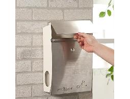B41信件、雜誌、報紙*不鏽鋼大器之作髮絲紋鎖式信箱.郵筒*貴氣典雅