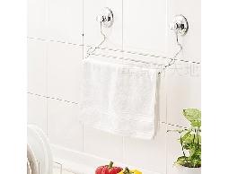 B44*衛浴用品廚房用品白鐵不銹鋼不鏽鋼吸盤式多用途清潔抹布.毛巾風乾架