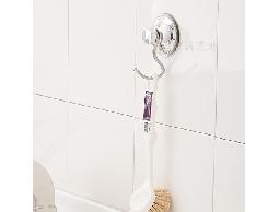 B45白鐵不銹鋼不鏽鋼廚房用品浴室用品吸盤式單掛勾_2入裝