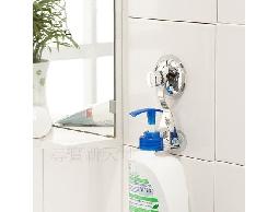 B47*白鐵不銹鋼不鏽鋼浴室用品廚房用品強力吸盤式沐浴乳瓶罐架
