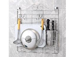 B1白鐵不銹鋼不鏽鋼廚房用品廚櫃空間壁網收納架菜刀架.鍋蓋架.砧板架