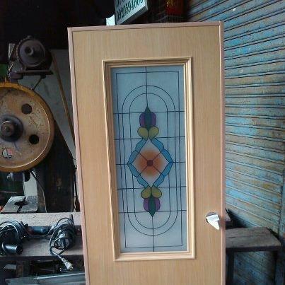 藝術塑鋼門