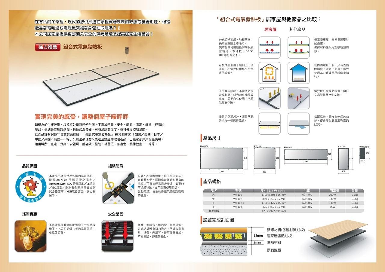 組合式電氣發熱板