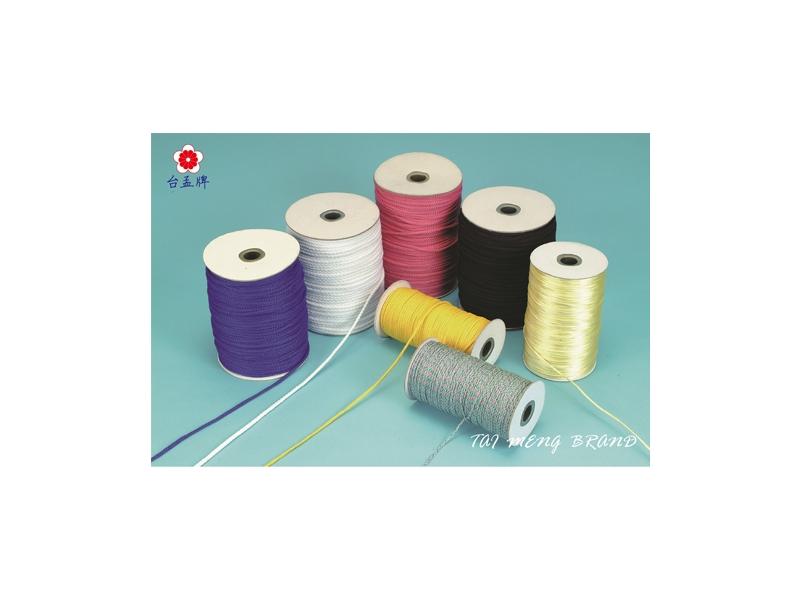 台孟企業有限公司-圓織帶、金銀蔥織帶、反光織帶、五色線、繩、仿皮繩,台灣專業大量製造與批發