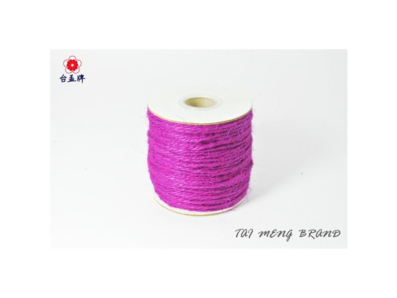 台孟牌 染色麻繩 65碼 27色 (麻線、麻紗、編織、毛線、手工藝) 專用,優惠上市中!
