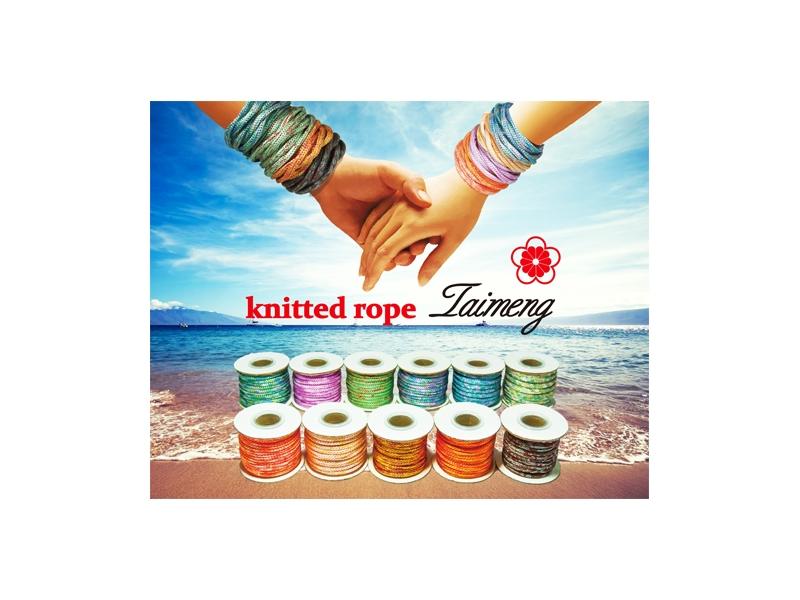 台孟牌 特殊配色針織繩 (編織繩、包裝繩、髮飾材料、首飾配料、DIY、手工藝) 專用