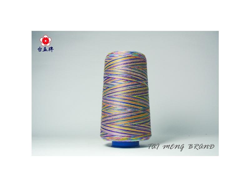 台孟牌 五彩線 (40/2) 7000碼 (車縫線、手縫線、彩色線、縫紉線、牛仔布專用線)