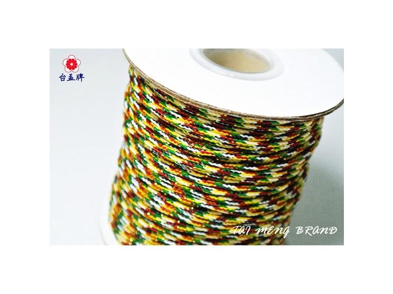 台孟牌 五色線 有加金蔥 三種尺寸 另有七色線 (編織、手環、串珠) 專用,優惠上市中!