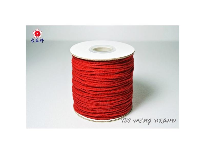 台孟牌 紅紗線/染色純棉繩90碼(綁蓮花、綁金紙、姻緣線、香包線、宗教佛具、編織、手工藝)