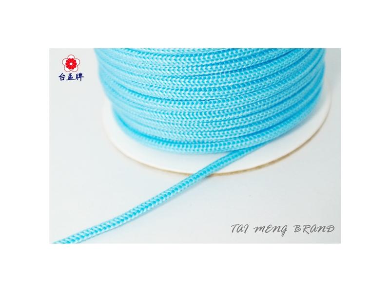 台孟牌 PP繩 30碼 水藍色 (編織繩、織帶、繩子、PP織帶、特多龍織帶、縮口繩束帶)
