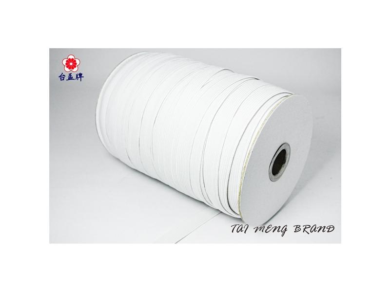 台孟牌 走馬鬆緊帶 彈性強 6mm(8c) 144碼 白色 (包裝帶、走馬帶、拼布材料)