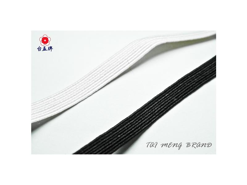 台孟牌 走馬鬆緊帶 彈性強4.5mm(6c)144碼黑色(禮品禮盒束帶、飾品DIY、久帶)