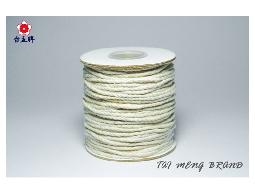 台孟牌 純天然棉繩 白色 七種規格 (束口袋、麻花繩、細棉繩、粗棉繩、棉線、背袋線) 專用