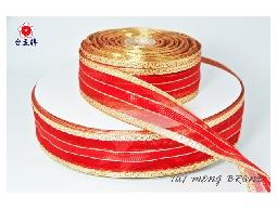 台孟牌 雪紗金蔥緞帶 38mm 1碼 (包裝帶、材料、禮品禮盒、DIY、服裝輔料) 專用