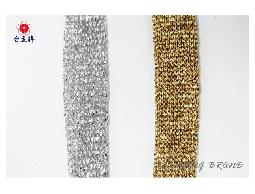 台孟牌 金蔥銀蔥針織帶 24碼 (扁織帶、識別證帶、金蔥織帶、手提繩、包裝帶、DIY材料)