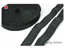 台孟牌 高速鬆緊帶 彈性強 25mm(1英吋) 33碼黑色(高彈性、飾品DIY、服裝久帶)