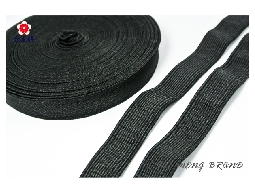 台孟牌 高速鬆緊帶 彈性強 18mm(六分) 33碼 黑色(高彈性、飾品DIY、服裝久帶)