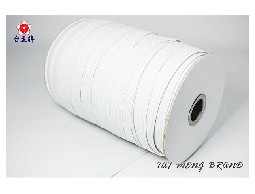 台孟牌 走馬鬆緊帶 3.5mm(4c) 144碼 白色 (禮品禮盒束帶、飾品DIY、久帶)