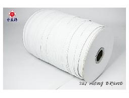 台孟牌 走馬鬆緊帶 彈性強 8mm(12c) 144碼 白色 (包裝帶、走馬帶、拼布材料)