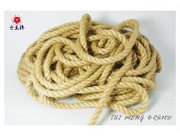 台孟牌 原色麻繩 9mm 一公斤大包裝 (粗麻繩、繩子、麻紗、綑綁繩、童軍繩、包裝繩)